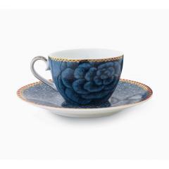 Ceasca espresso cu farfurie - Bleu
