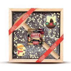 Cutie ciocolata neagra de Craciun