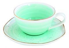 Ceasca cu farfurioara - Artesanal Green