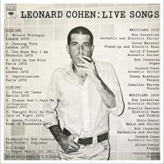 Live Songs Leonard Cohen - Vinyl