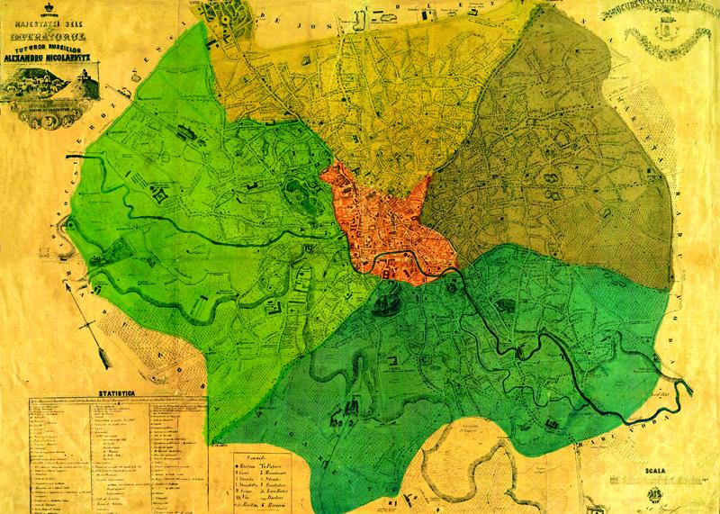 Harta Bucuresti 1871