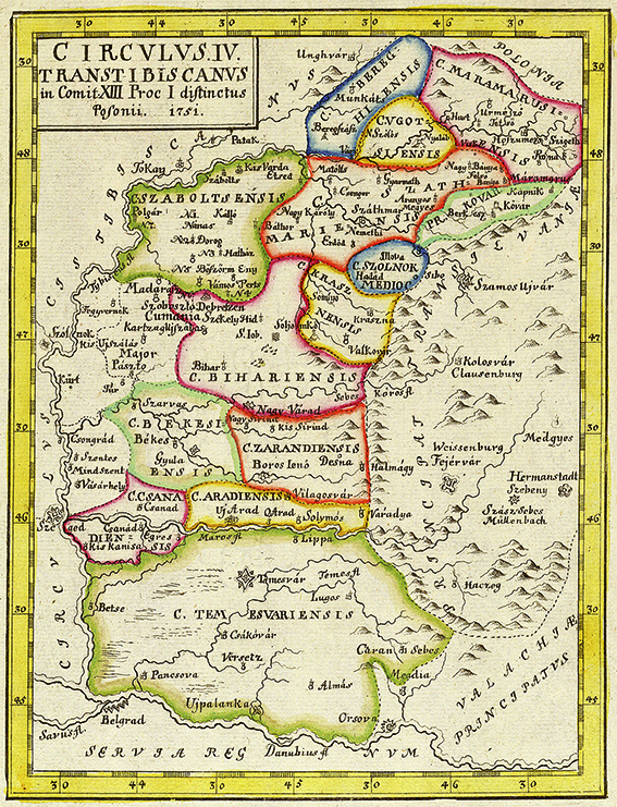 Harta Maramures Crisana Si Banat 1751