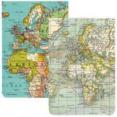 Set 2 carnetele de buzunar- Vintage maps