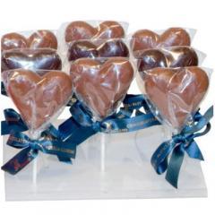 Acadea de ciocolata cu lapte forma inimii