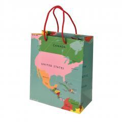 Punga de cadou mica - World Map
