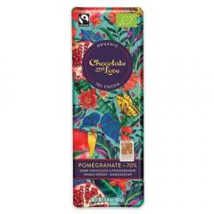Ciocolata amaruie - Fairtrade Dark Chocolate With Pomegranate