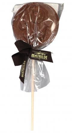 Acadea de ciocolata - Sucette chocolat lait - Dingue Emotichoc