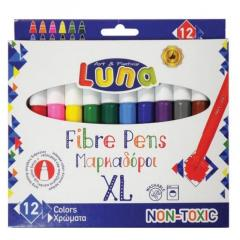Set 12 markere - Luna Jumbo