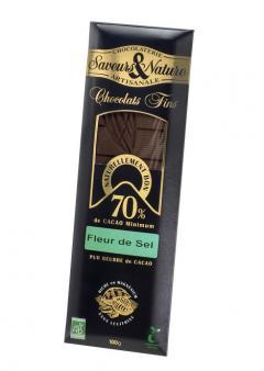Ciocolata neagra bio - Fleur de sel