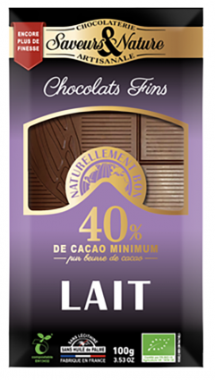 Ciocolata cu lapte artizanala - Chocolats Fins Bio