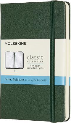 Carnet - Moleskine Notebook, Pocket, Dotted, Myrtle Green, Hard Cover