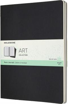 Set 3 caiete - Moleskine Extra Large Art Music - Black