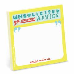 Sticky Note - Unsolicited, yet excellent, advice