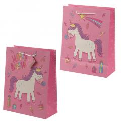 Punga cadou - Happy Birthday Rainbow Unicorn