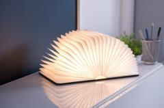 Lampa - Large Smart Book Light - Black Leather