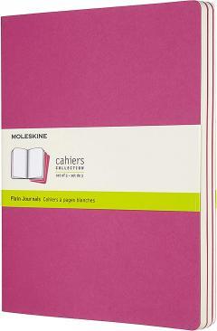 Set 3 jurnale - Moleskine Extra Large Plain Cahier Journals: Kinetic Pink