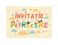 Set 20 de invitatii - Litere
