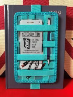 Suport elastic pentru carnet - Tidy - Turquoise