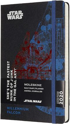 Agenda 2020 - Moleskine Limited Edition Star Wars 12-Month Daily Notebook Planner - Millennium Falcon, Large, Hard cover