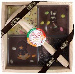 Ciocolata in cutie din lemn - 4 Choc a casser