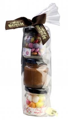 Bomboane de ciocolata cu lapte și alune - Papillote