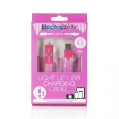 Cablu USB pentru Android si Iphone - Jelly Pink