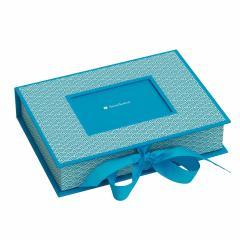 Cutie pentru fotografii - Seigaiha Pattern Turquoise