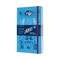 Agenda 2019-2020 - Moleskine Alice's Adventures in Wonderland Limited Edition 18-Month Weekly Planner - Blue, Large, Hard cover