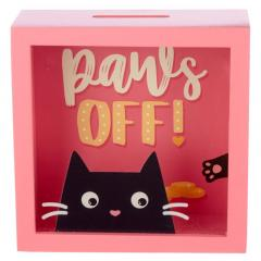 Pusculita - See Your Savings Money Box / Feline Fine Cat Design