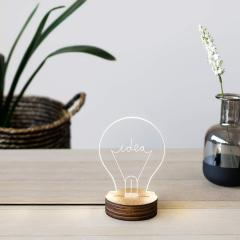 Lampa - Bulb Wood/Acrylic - Idea