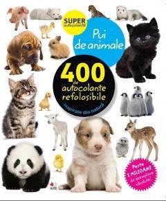 Pui de animale. 400 de autocolante refolosibile