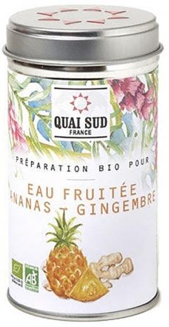Arome de fructe - Preparation Bio pour eau fruitee ananas - gingembre boite pop