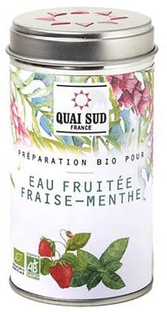 Arome de fructe - Preparation bio pour eau fruitee fraise menthe