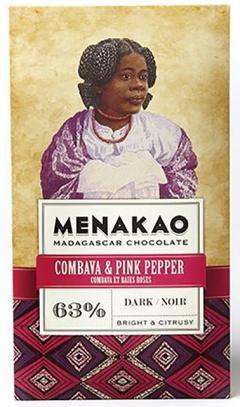 Ciocolata neagra - Menakao Noir Combava & Baies Roses