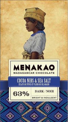 Ciocolata neagra - Menakao, Eclats De Feves Et Fleur Sel Marin