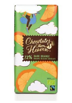 Ciocolata neagra cu aroma de portocale - Chocolates from Heaven Bio