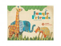 Board book - Jungle Friends: 5 Jumbo Punch-Out Animals for Play and Display