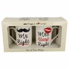 Set 2 cani - Mr Right & Mrs Always Right
