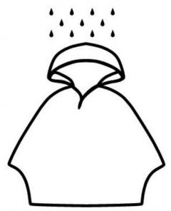 Poncho pentru ploaie - Sos Rain Emergency Poncho