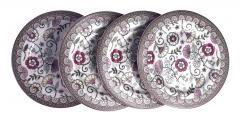 Set 4 farfurii - Kalamkari Pink