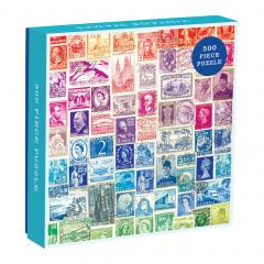 Puzzle 500 piese - Vintage Stamps