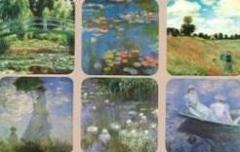 Suport pentru pahar - Claude Monet - mai multe modele