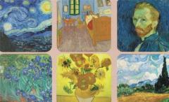 Suport pentru pahar - Van Gogh - mai multe modele
