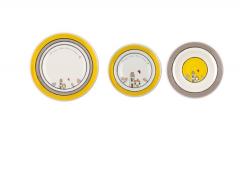 Set 3 farfurii - Yellow Casette
