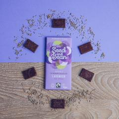 Ciocolata extra amaruie cu lavanda Bio
