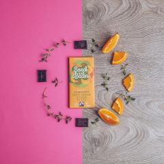 Ciocolata cu portocale dulci si cimbru Bio