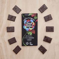 Ciocolata neagra 100% cacao - Salbatic si organic Bio
