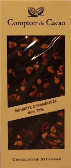Ciocolata neagra cu alune de padure caramelizate