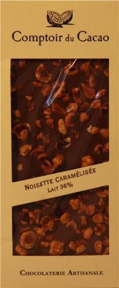 Ciocolata cu lapte si alune de padure caramelizate