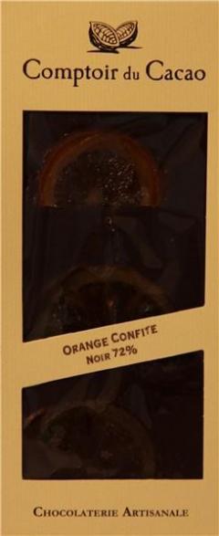 Ciocolata neagra cu portocala confiata